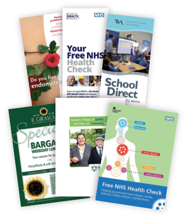 A selection of leaflets and flyers