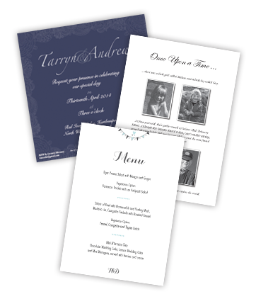 A selection of wedding stationery